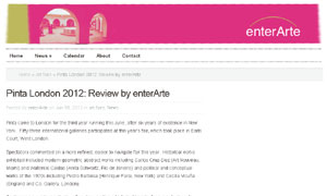Pinta London 2012: Review by enterArte | enterArte